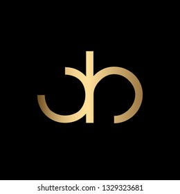 Creative and Minimal Letter DB Logo Design Icon, Editable in Vector Format in Black and Gold Color
