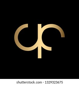 Creative and Minimal Letter QC Logo Design Icon, Editable in Vector Format in Black and Gold Color