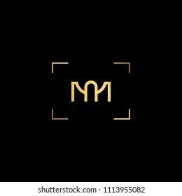 Creative minimal  logo design and Unique symbol with MA AM MN NM.