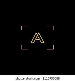 Creative minimal  logo design and Unique symbol with A AA.