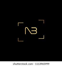 Creative minimal logo design and Unique symbol with NB BN.