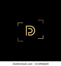 Creative minimal logo design and Unique symbol with DP PD.