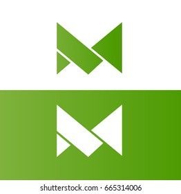 creative and minimal logo for letter and alphabet M in vector format.