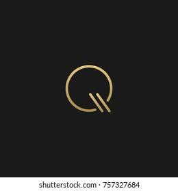 Creative Minimal Luxury Style Initial based Q logo