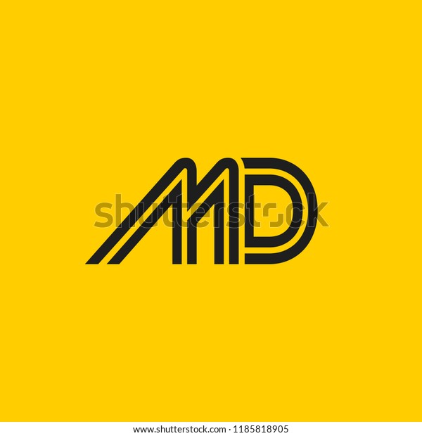 md logo design