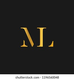 creative minimal ML logo icon design in vector format with letter M L
