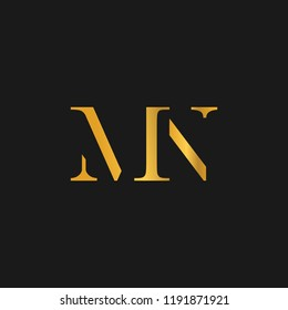 creative minimal MN logo icon design in vector format with letter M N