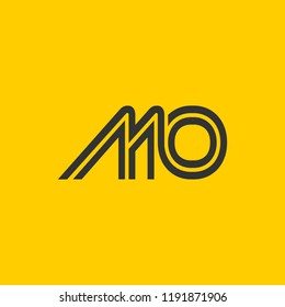 creative minimal MO logo icon design in vector format with letter M O