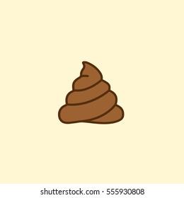 Creative and Minimal Rational Shit Icon Emblem Logo