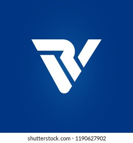 creative minimal VR logo icon design in vector format with letter V R