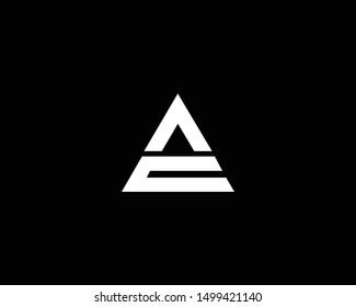 Creative and Minimalist Letter AC CA Logo Design Icon Editable in Vector Format in Black and White Color