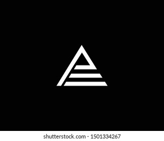 Creative and Minimalist Letter AE EA Logo Design Icon, Editable in Vector Format in Black and White Color