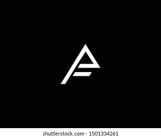 Creative and Minimalist Letter AF FA Logo Design Icon, Editable in Vector Format in Black and White Color
