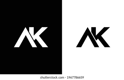 Creative and Minimalist Letter AK Logo Design