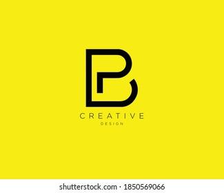 Creative and Minimalist Letter BP PB Logo Design , PB BP Monogram