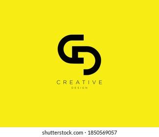 Creative and Minimalist Letter CD Logo Design , CD Monogram
