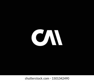 Creative and Minimalist Letter CM Logo Design Icon, Editable in Vector Format in Black and White Color