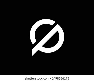 Creative and Minimalist Letter CP Logo Design Icon | Editable in Vector Format in Black and White Color