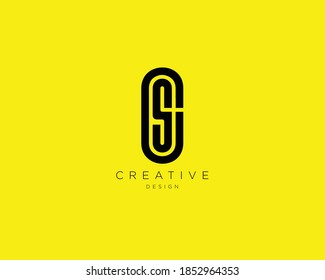 Creative and Minimalist Letter CS Logo Design Using letters C and S, CS Monogram