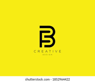 Creative and Minimalist Letter FB Logo Design Using letters F and B , FB Monogram