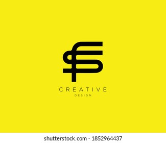 Creative and Minimalist Letter FS SF Logo Design Using letters F and S , FS Monogram