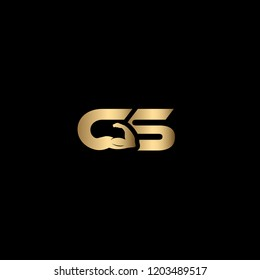 Creative and Minimalist Letter GS Logo Design Icon for Gym and Fitness Business, Editable in Vector Format in Black and Gold Color