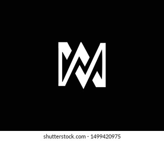 Creative and Minimalist Letter MA AM Logo Design Icon |Editable in Vector Format in Black and White Color