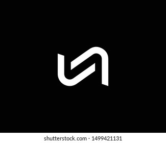 Creative and Minimalist Letter N Logo Design Icon |Editable in Vector Format in Black and White Color