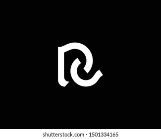 Creative and Minimalist Letter PC Logo Design Icon, Editable in Vector Format in Black and White Color