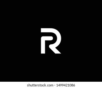 Creative and Minimalist Letter RR R Logo Design Icon |Editable in Vector Format in Black and White Color