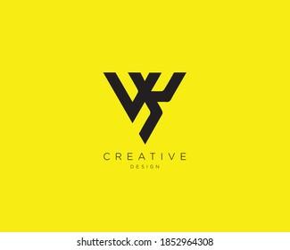 Creative and Minimalist Letter VK Logo Design Using letters V and K , VK Monogram