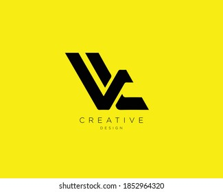 Creative and Minimalist Letter VL Logo Design Using letters V and L , VL Monogram