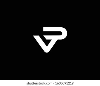 Creative and Minimalist Letter VP VD Logo Design Icon, Editable in Vector Format in Black and White Color