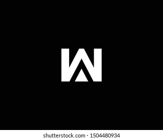 Creative and Minimalist Letter WA AW Logo Design Icon, Editable in Vector Format in Black and White Color