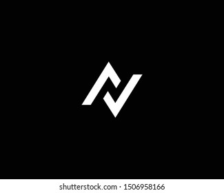 Creative and Minimalist Logo Design of Letter N AV VA LL, Editable in Vector Format in Black and White Color