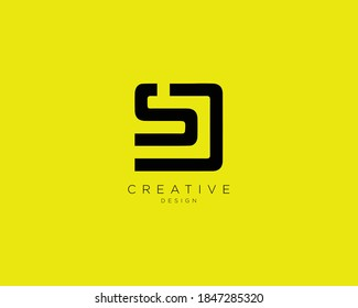 Creative Minimalist SD Logo Design with Letters S and D
