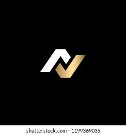Creative Minimalist Solid Letter AV Iconic Logo Design Using Letters A V