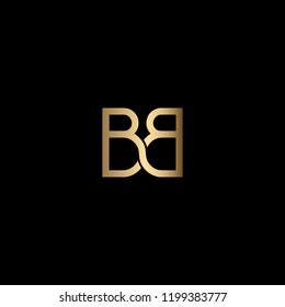 Creative Minimalist Solid Letter BB Iconic Logo Design Using Letters B B
