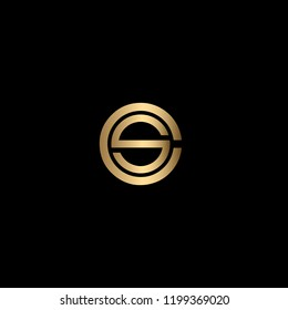 Creative Minimalist Solid Letter CS Iconic Logo Design Using Letters C S