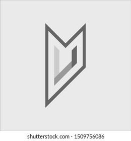 Creative Minimalist Solid Letter U Iconic Logo Design Using Letters U