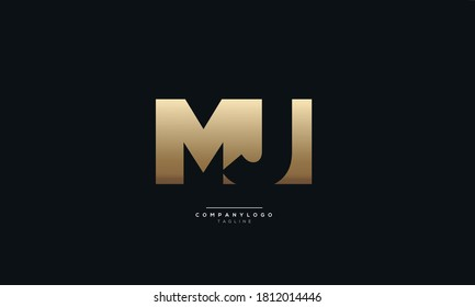 Creative MJ Letter Business Logo Design Alphabet Icon Vector Monogram