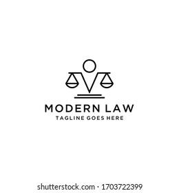 Creative modern abstract law Logo design icon Template