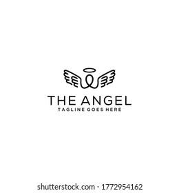 Creative modern angel logo design