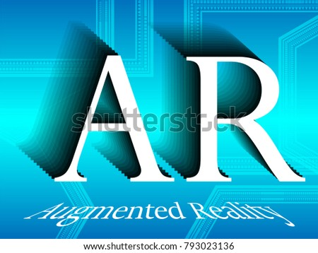 Creative Modern Ar Augmented Reality Marketing Stock Vector Royalty