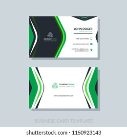 Royalty free green business card images stock photos vectors creative modern business card template vertical design vector abstract geometric background fbccfo Images