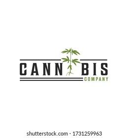 creative modern cannabis CBD marijuana hemp leaf logo design