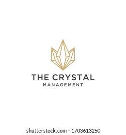 Creative modern crystal sign logo icon vector template