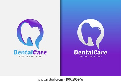Creative Modern Dental Care Logo Design. Usable For Business, Community, Foundation, Medical, Services Company. Vector Logo Design Illustration.