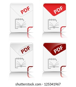 "Creative and modern design ""PDF"" file type icon"