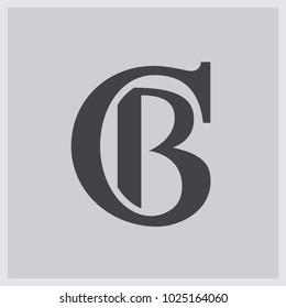 Creative modern elegant trendy unique artistic CB BC B C initial based letter icon logo.